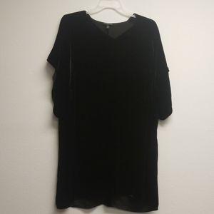 Eileen Fisher black velvet tunic